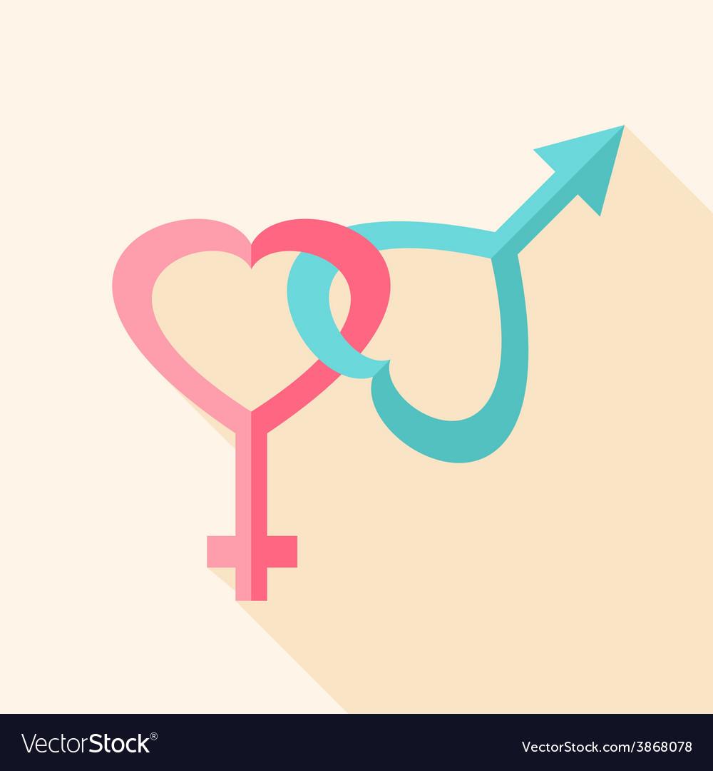 Gender hearts signs vector image