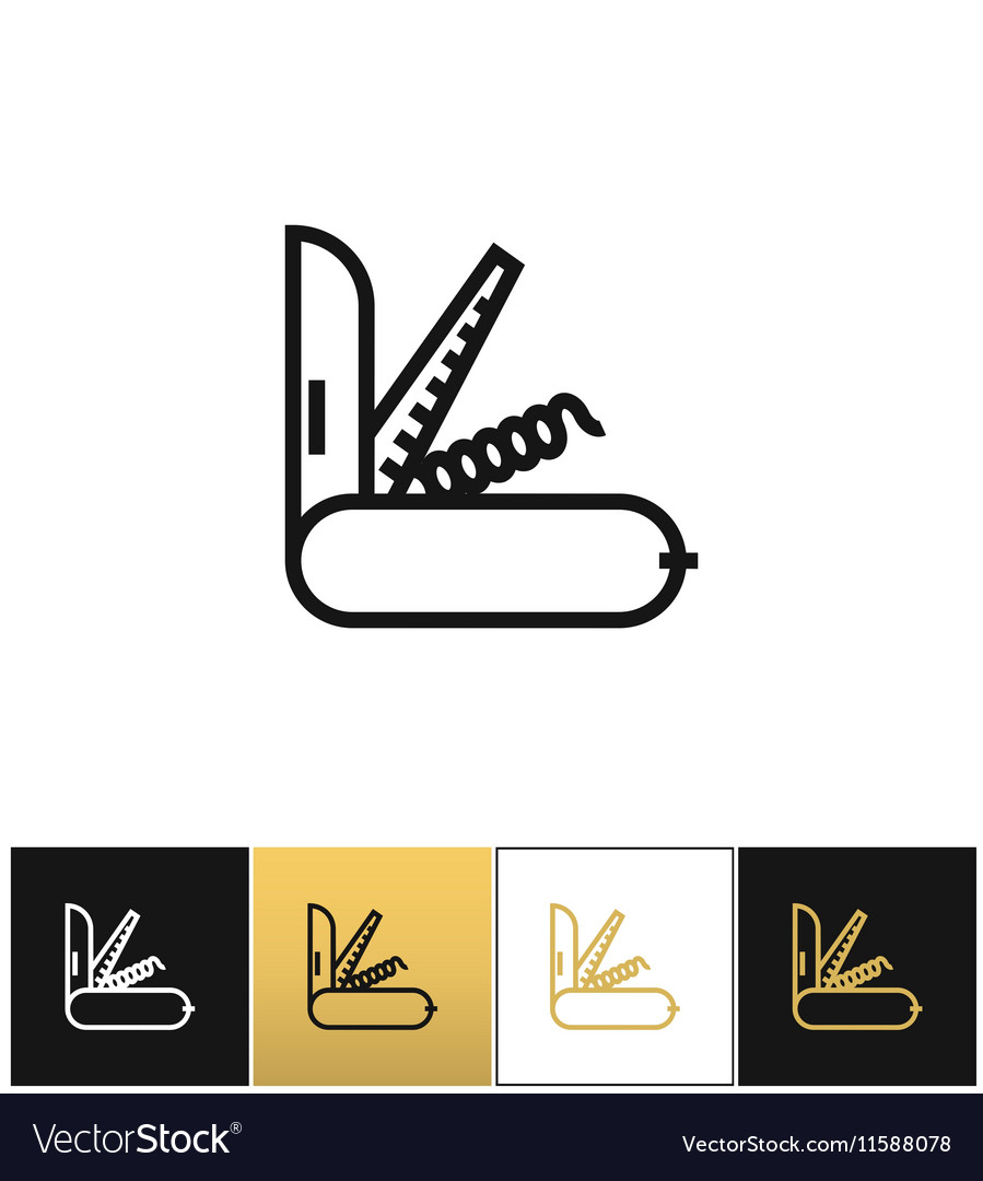 Swiss army knife icon vector image