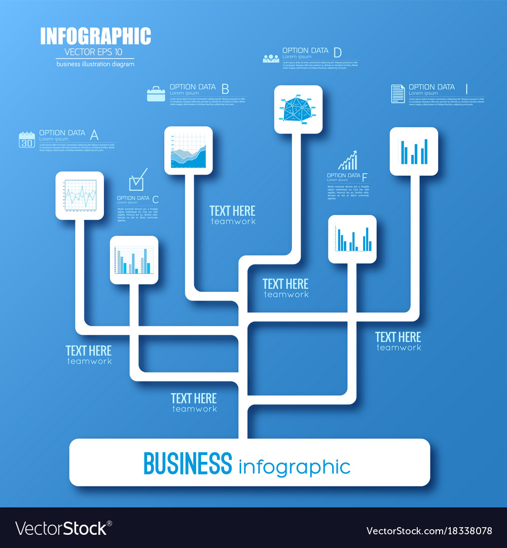 web infographic flowchart template royalty free vector image