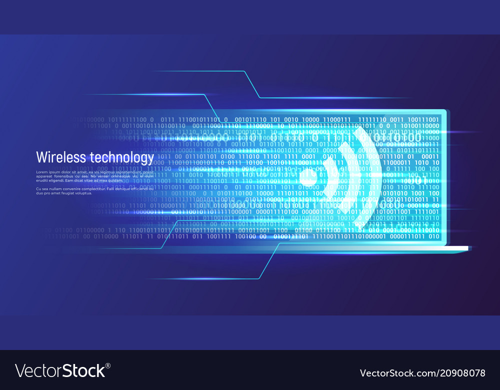 Wireless technology and data transfer concept