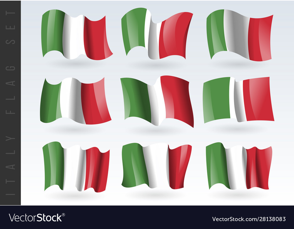 3d waving flag italy isolated on white