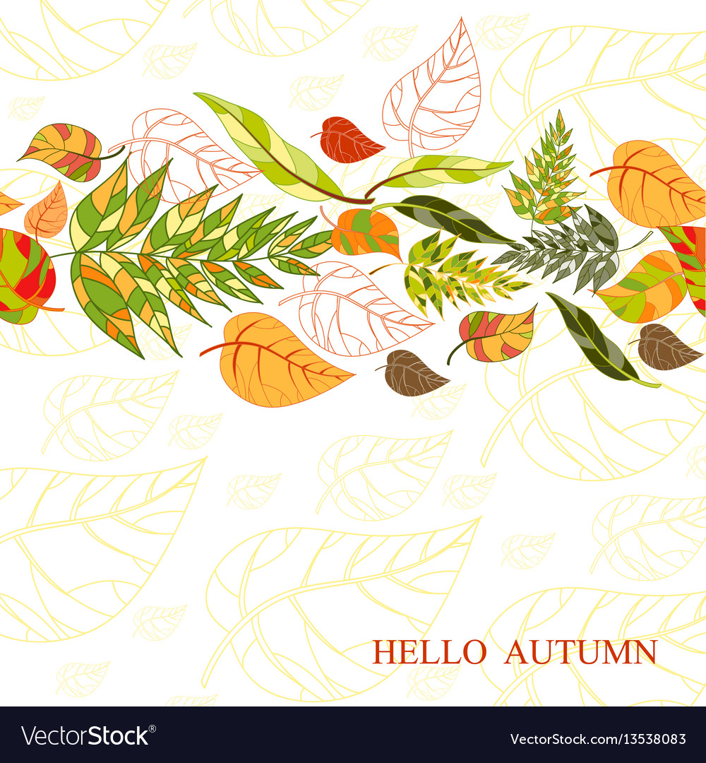 Background of stylized autumn leaves for greeting