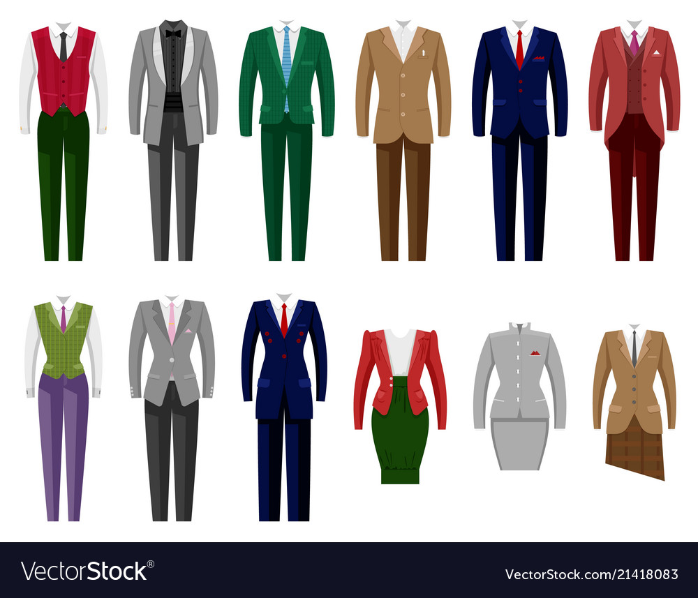Business suit mail or female corporate