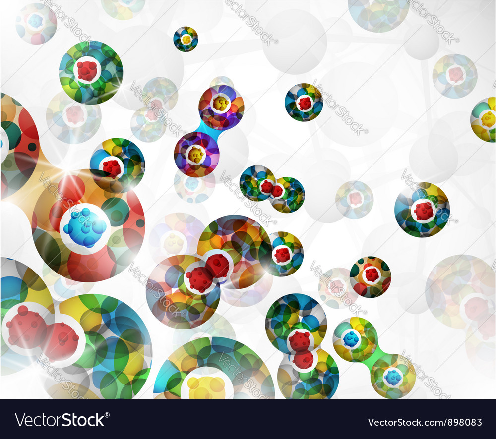 Cell division background vector image