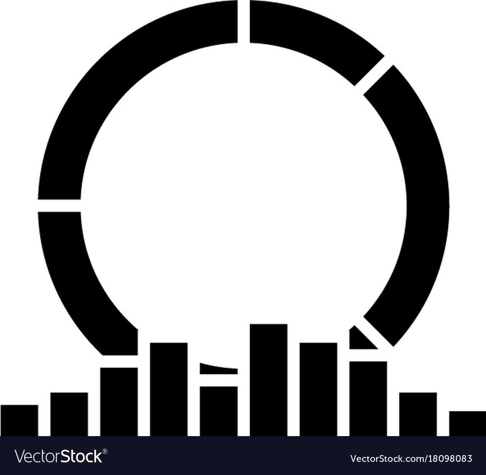 Diagram round medal icon vector image