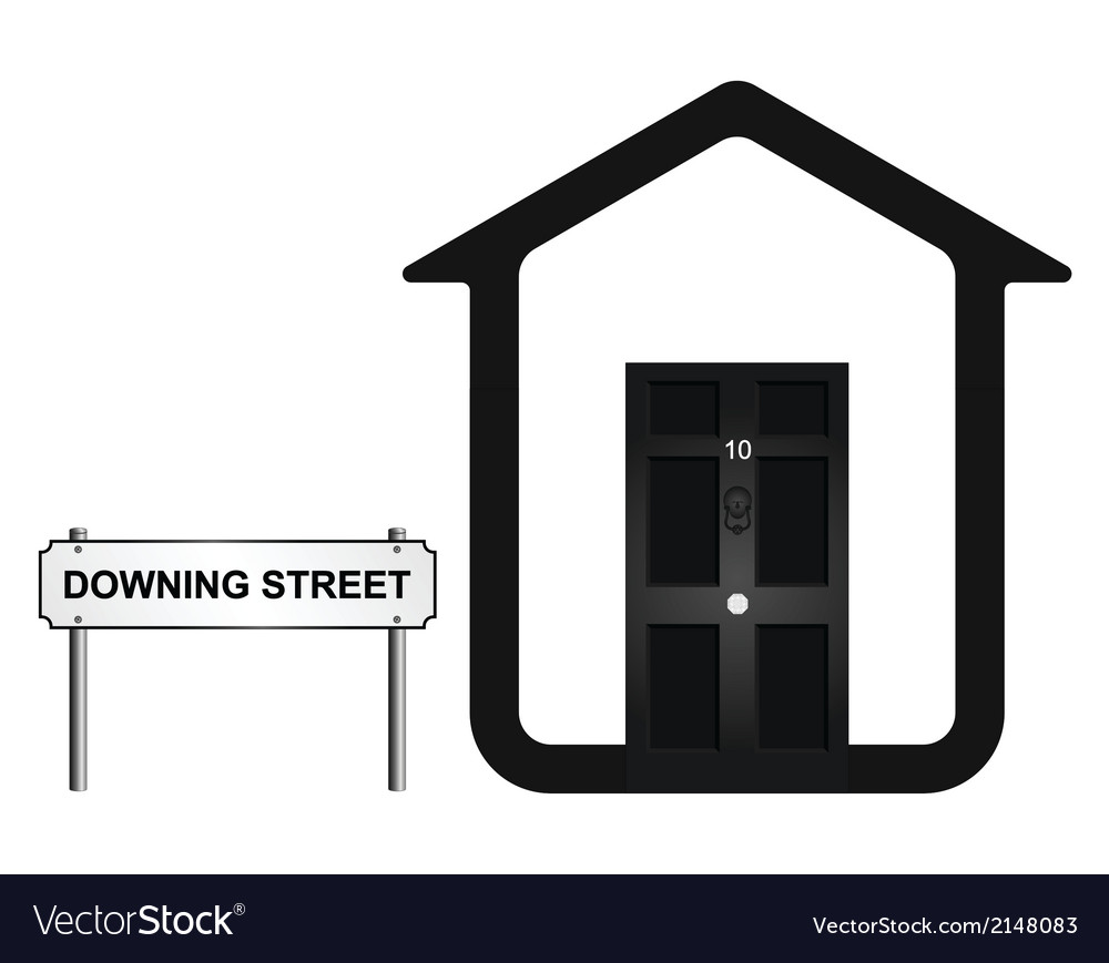 Downing Street vector image