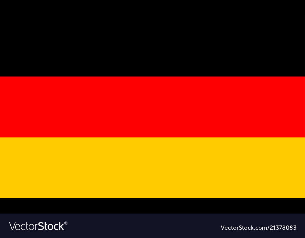 German flag flat layout