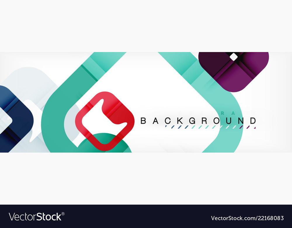 Square geometric background multicolored template