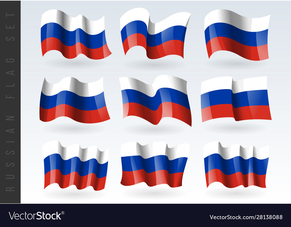 3d waving flag russia isolated on white
