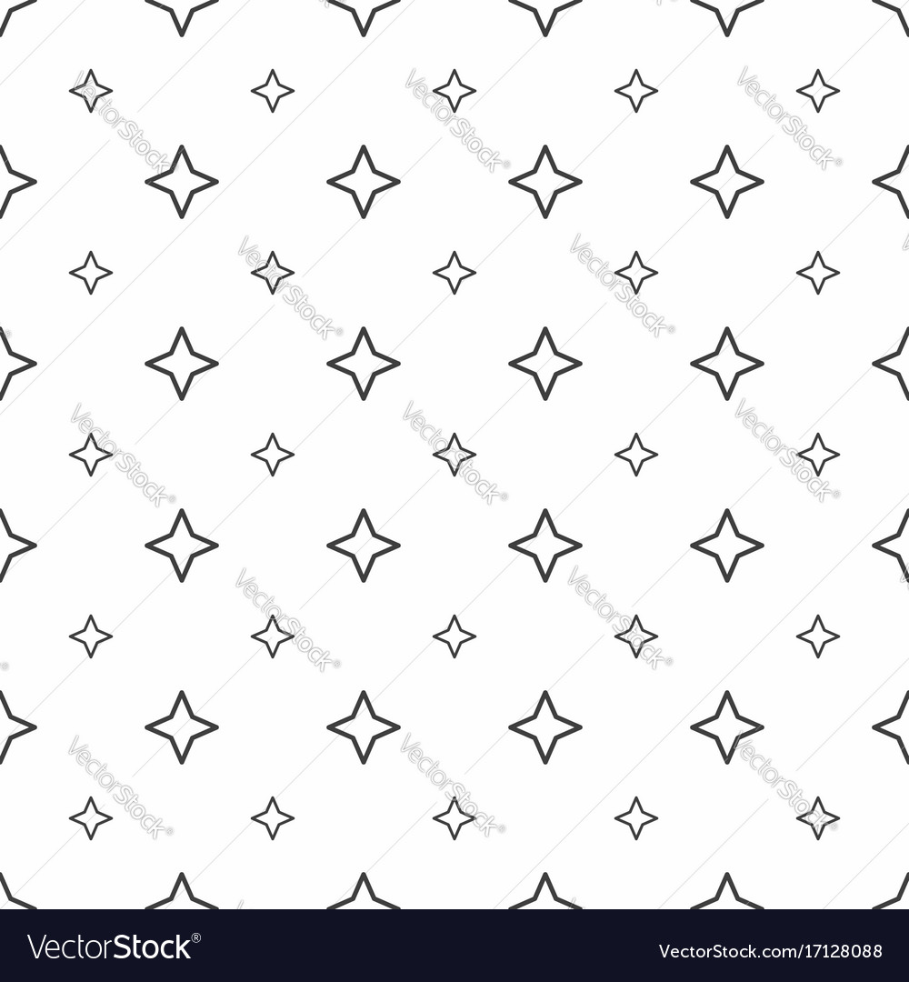 Abstract seamless pattern grey stars modern