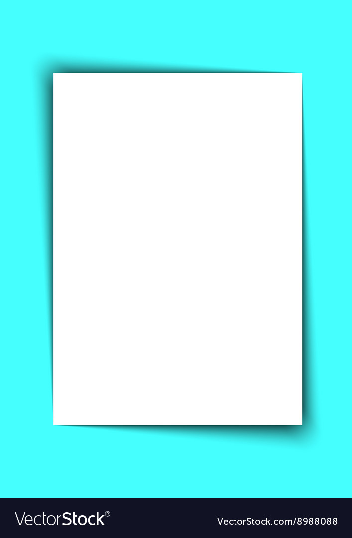 Blank A4 White Paper with Shadow