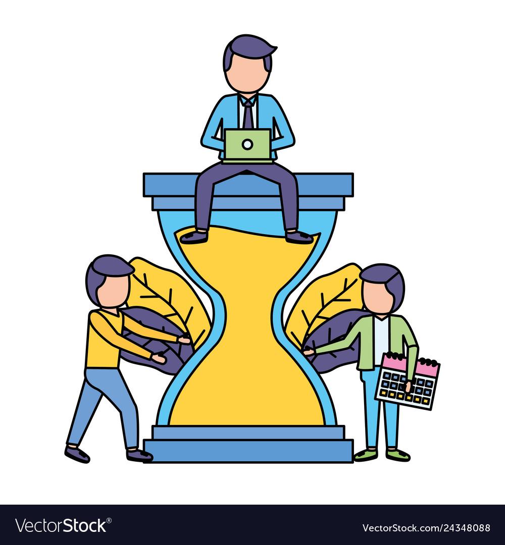 Business people hourglass