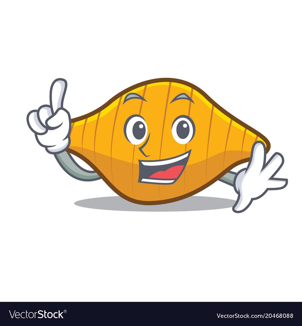 Finger conchiglie pasta mascot cartoon