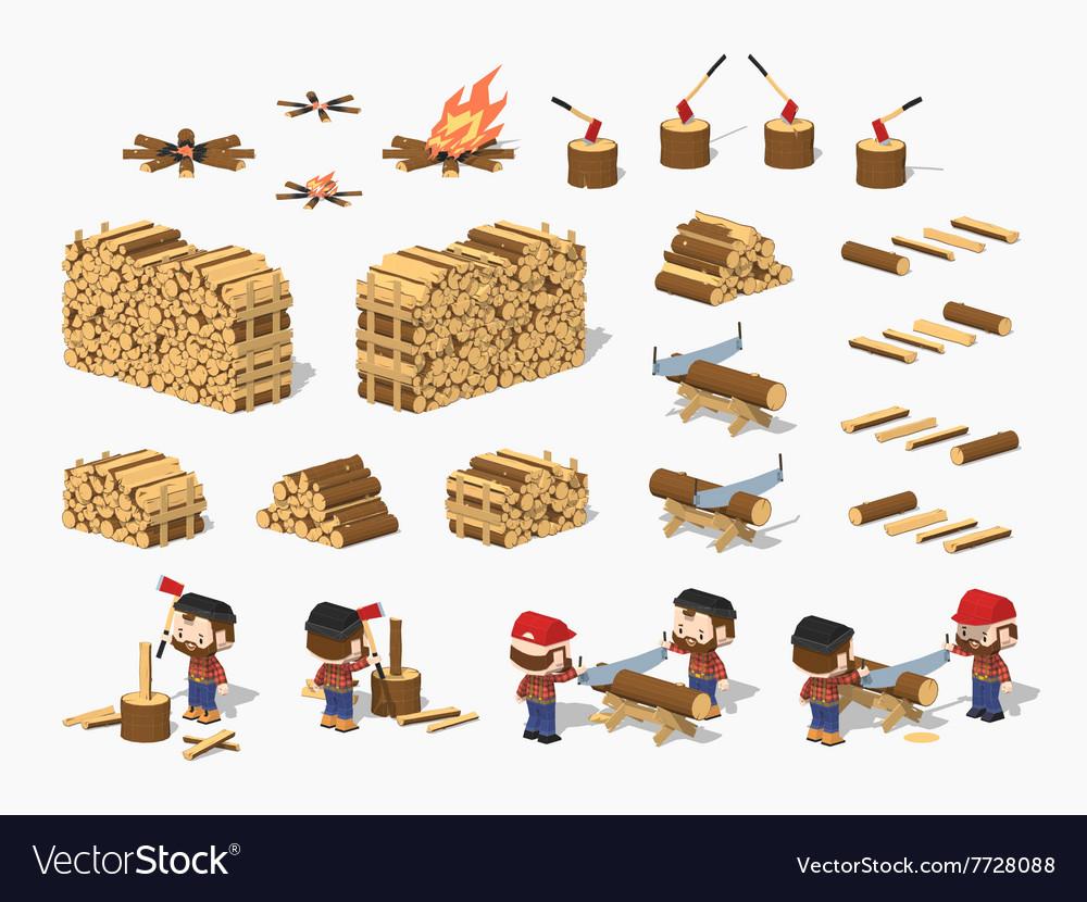 Firewood harvesting by lumberjacks