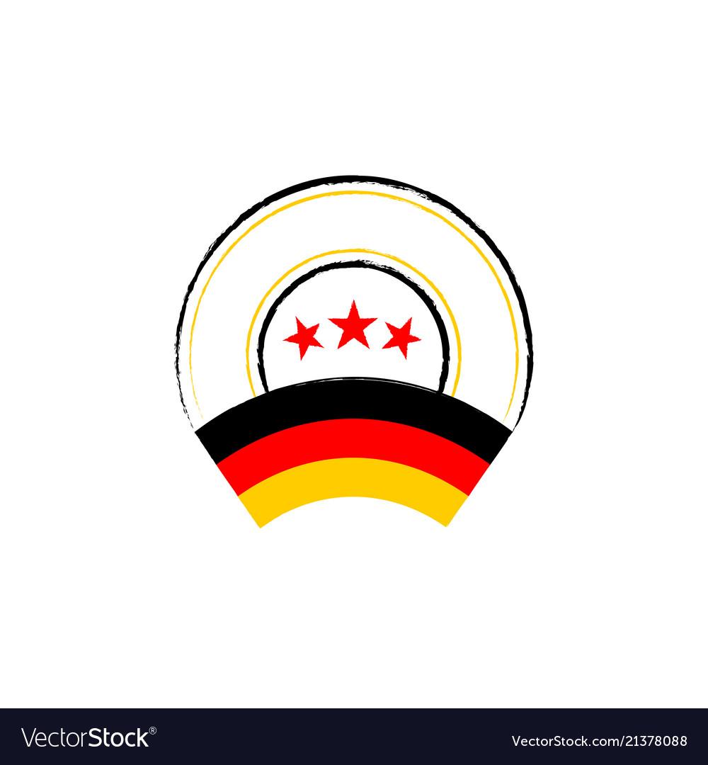 German flag retro stamp