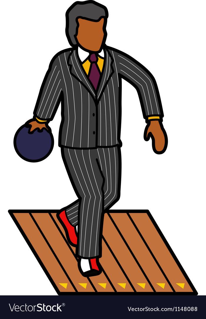 Man bowling