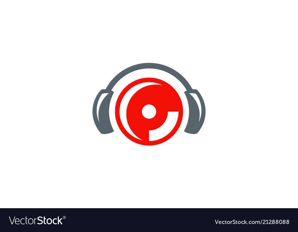 Music head set logo