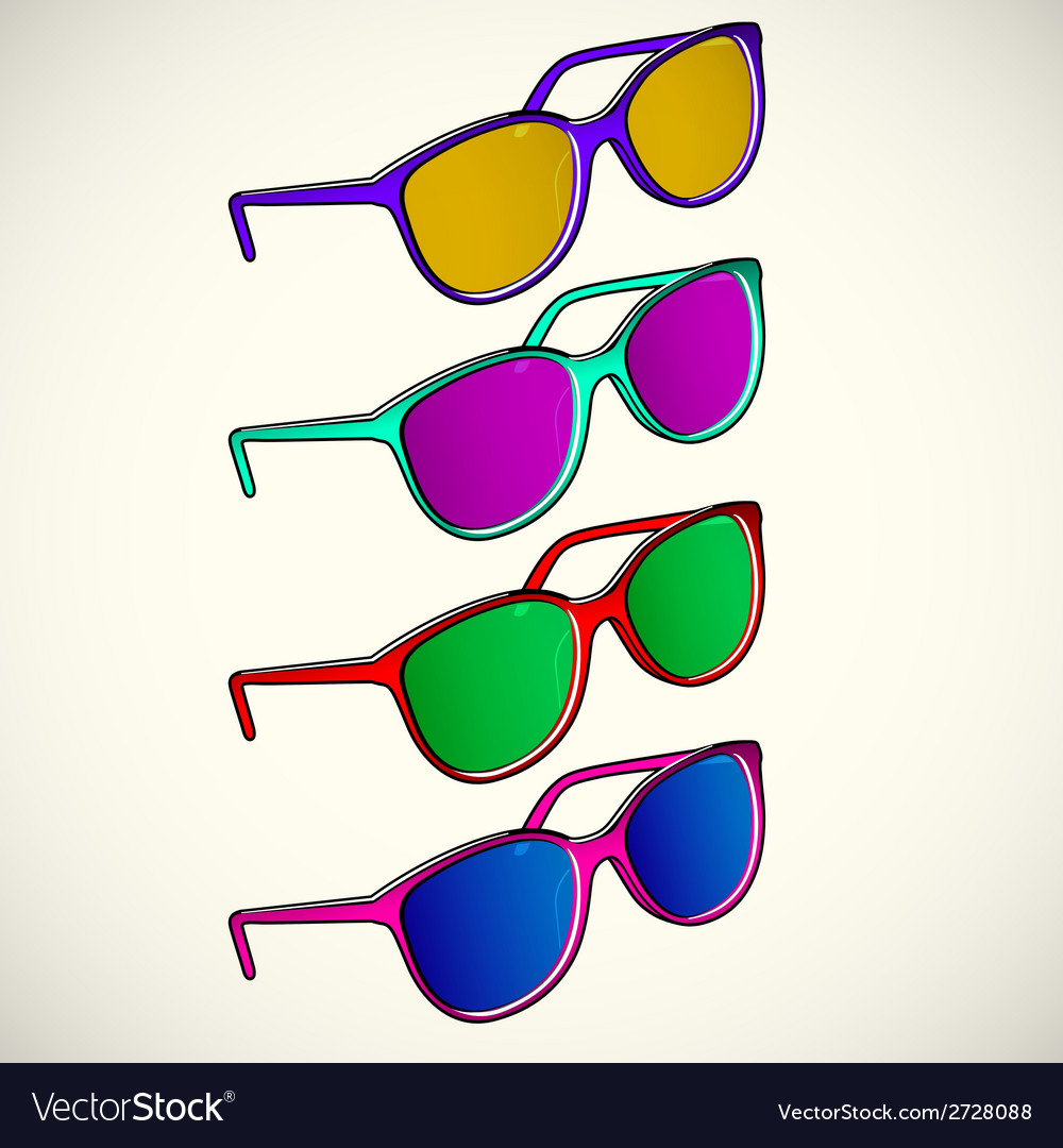 Retro sun glasses summer plastic lens color