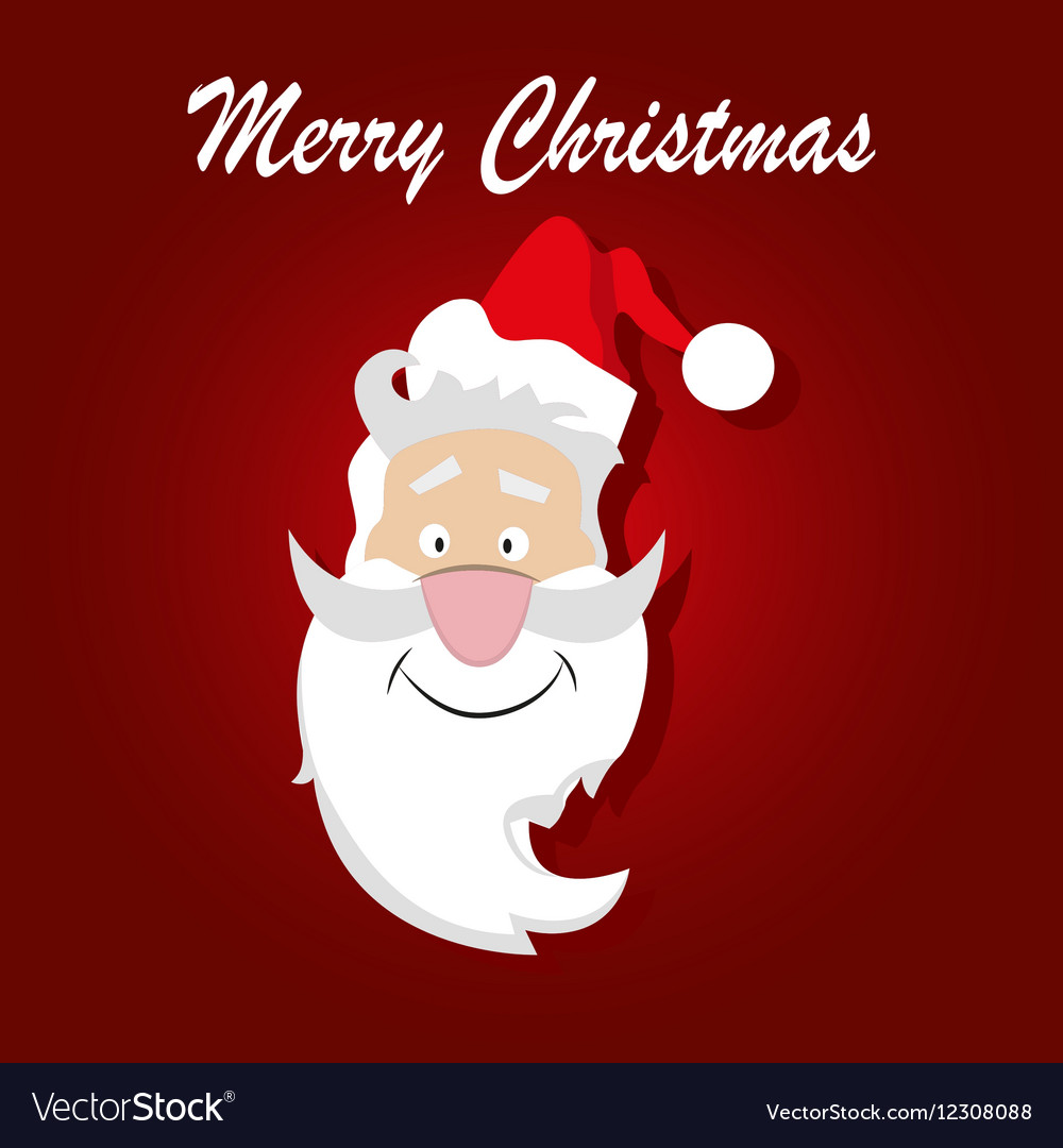 santa claus on a red background royalty free vector image vectorstock