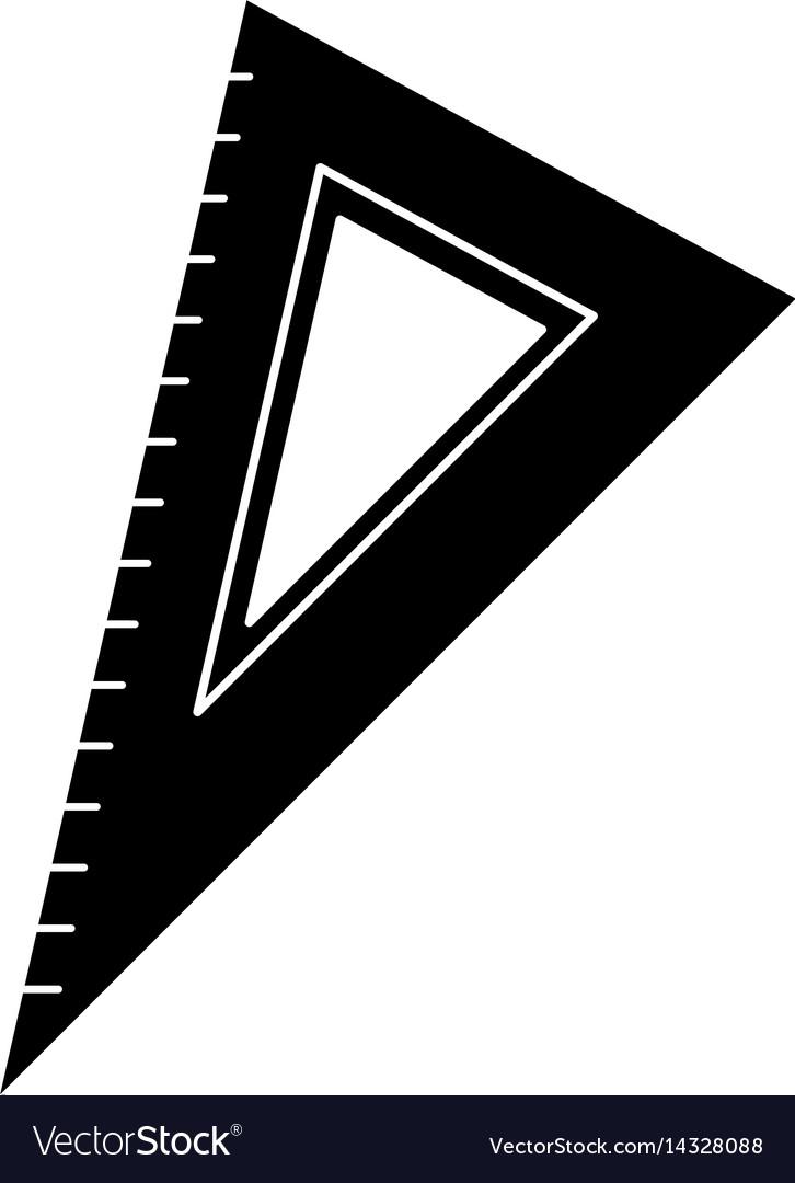 Triangle ruler utensil pictogram