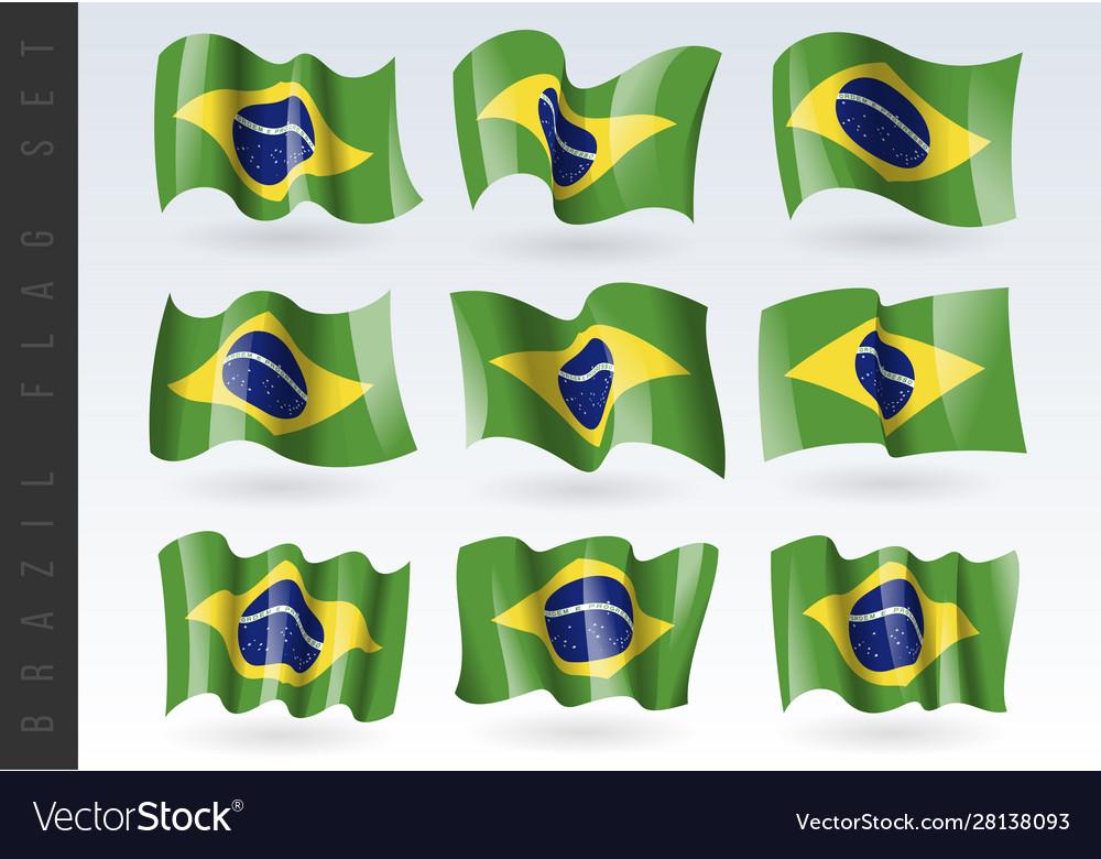 3d waving flag brazil isolated on white