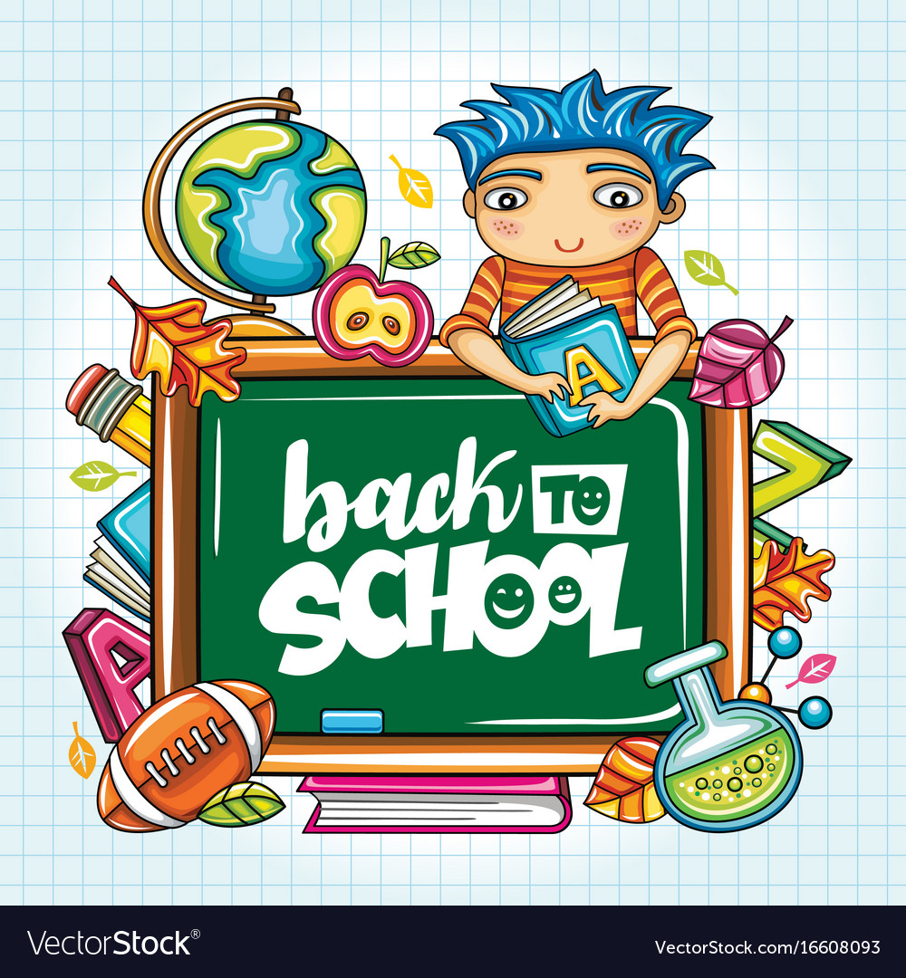 Back to school series vector image