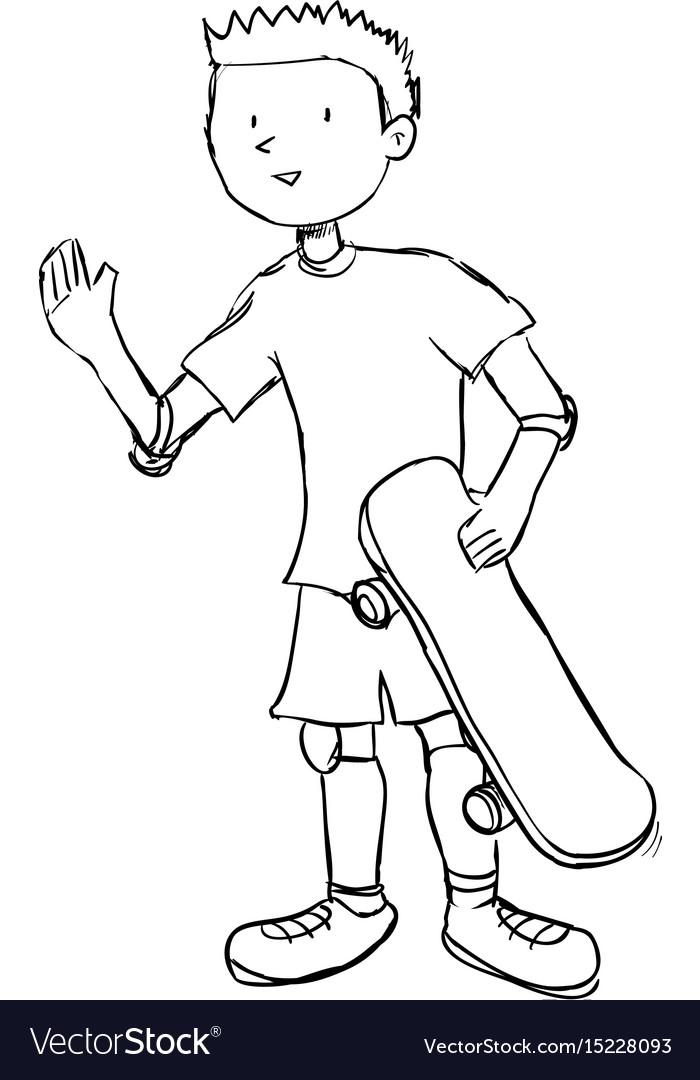 Boy doodle draw