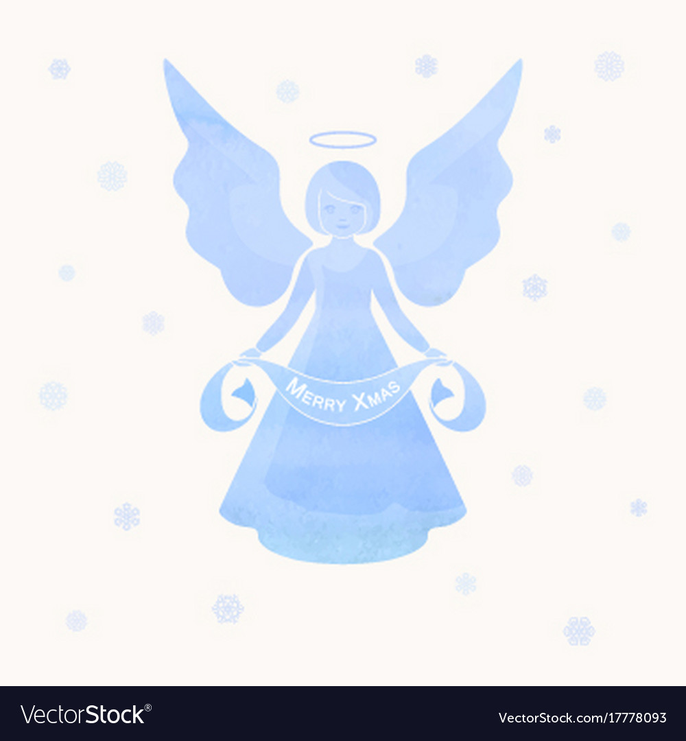 Christmas Angels.Christmas Angels And Snowflakes