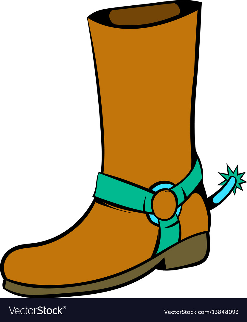 cowboy boot icon icon cartoon royalty free vector image rh vectorstock com cartoon cowboy boots cartoon cowboy boots and hat