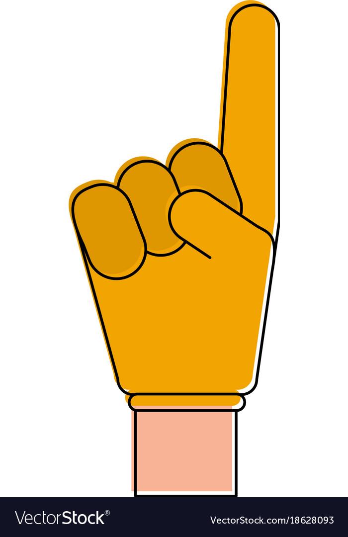 Number one finger foam