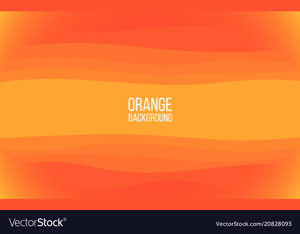 Orange background bright sunny layers with