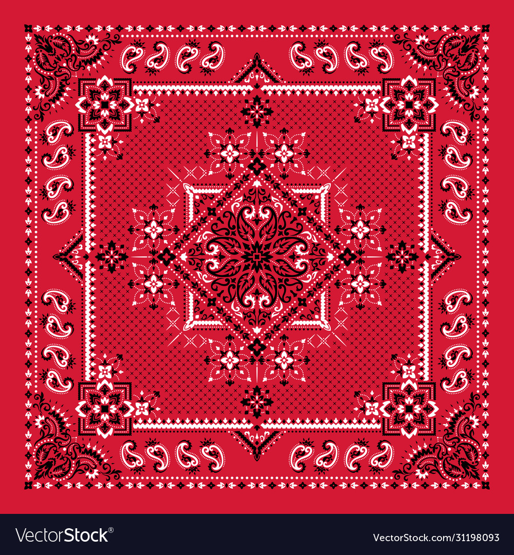 Ornament bandana print traditional