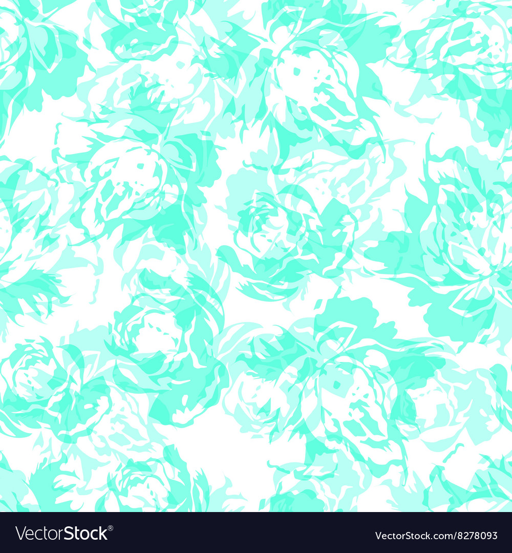 Seamless floral pattern with abstract blue roses