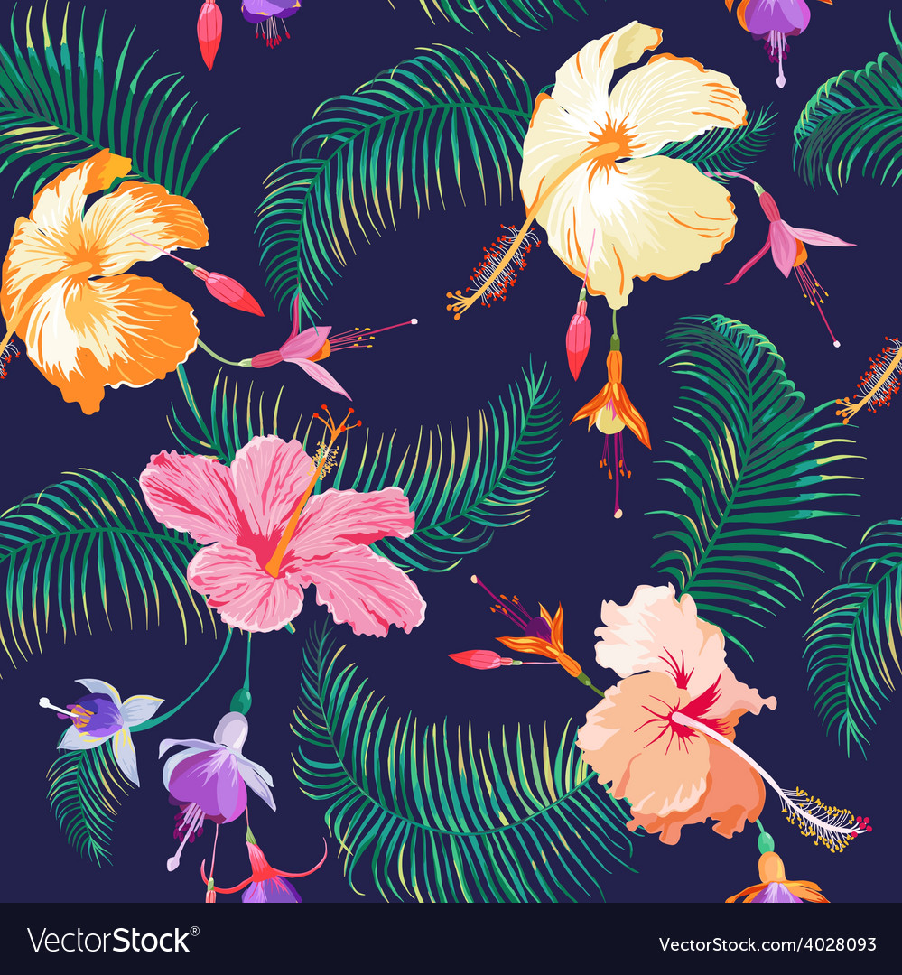 tropical flower background royalty free vector image
