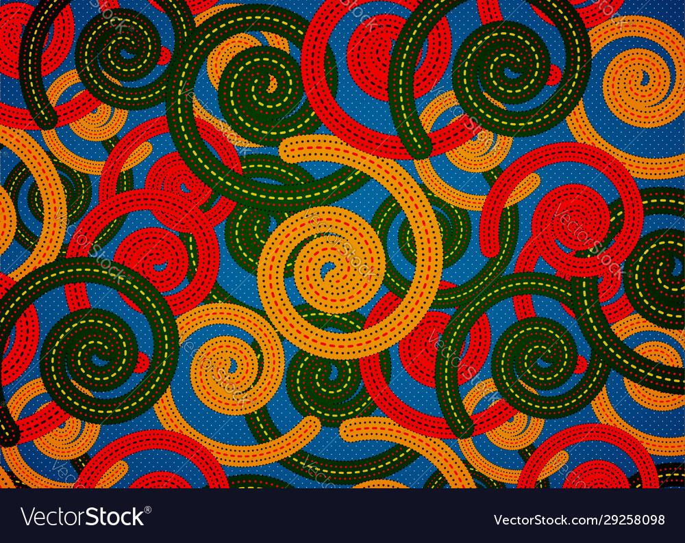African print fabric ethnic handmade ornament