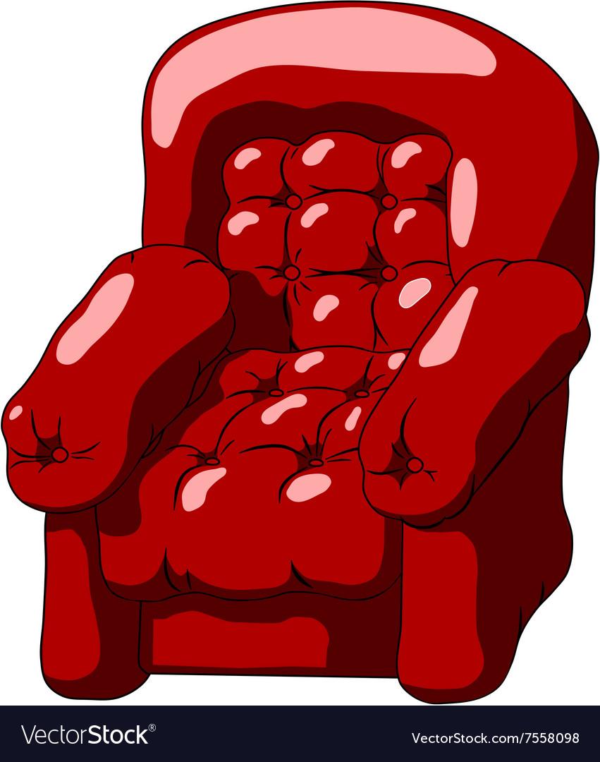 Dark red armchair