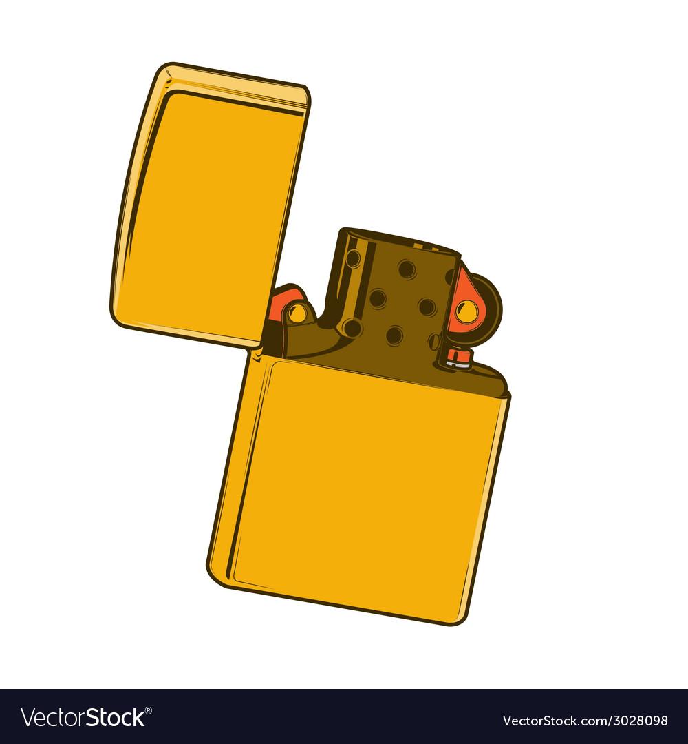 Golden zippo lighter