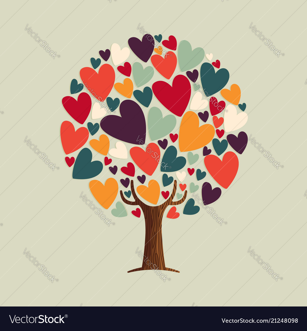 Heart shape tree for love concept