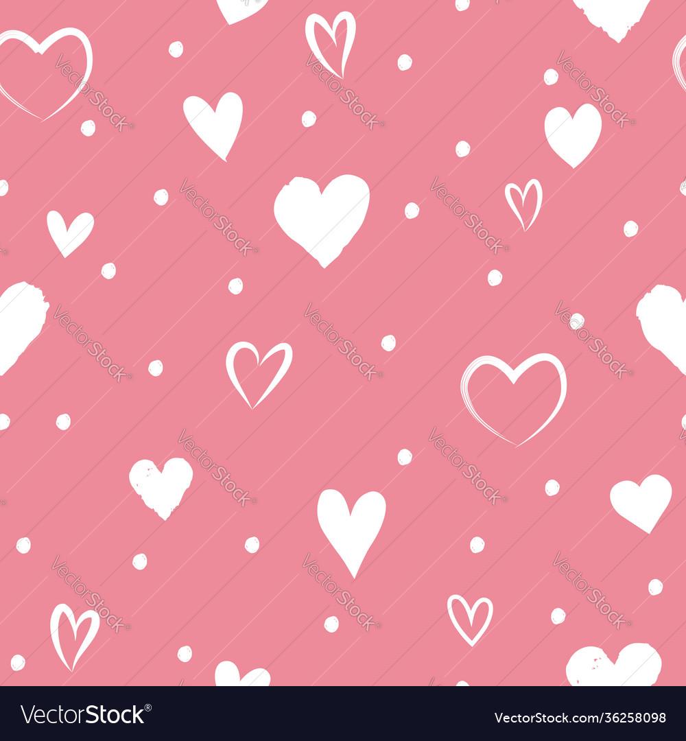 Love valentines day seamless background