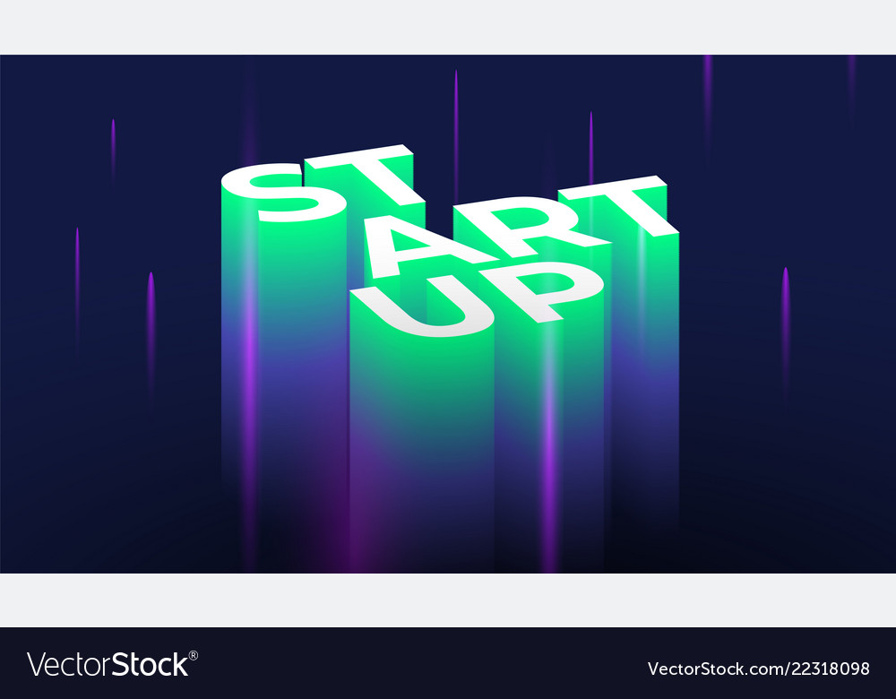 Startup 3d lettering