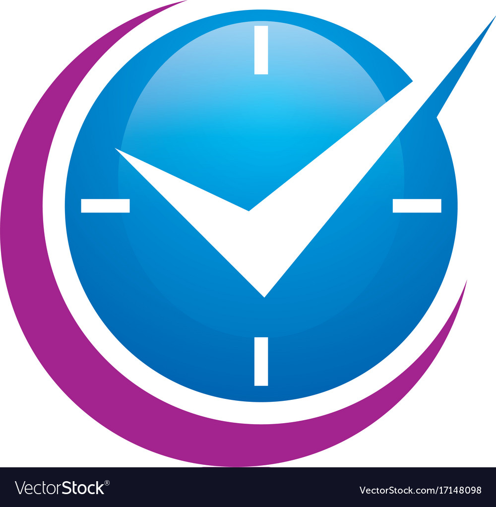 Time abstract clock business logo