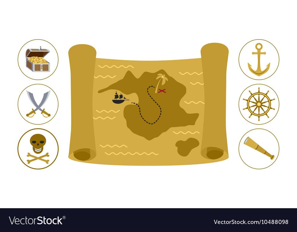 Treasure map flat