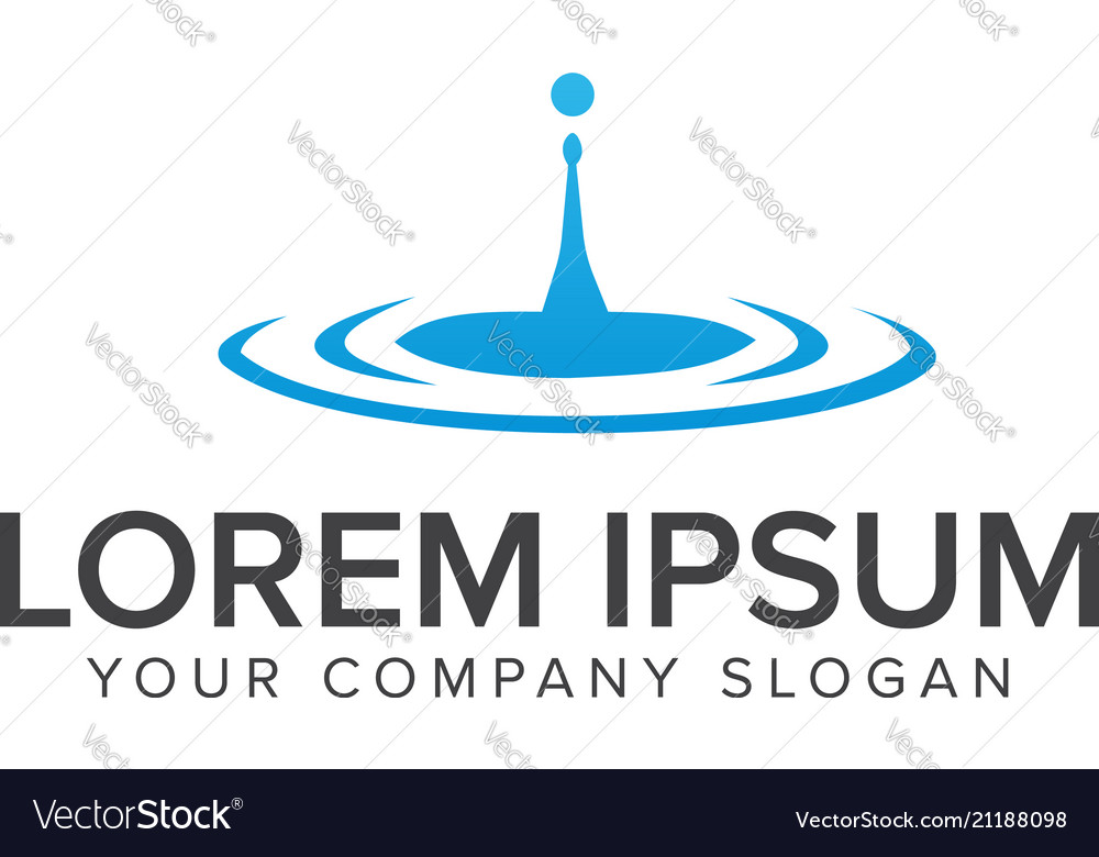 Water drop logo design concept templates vector image