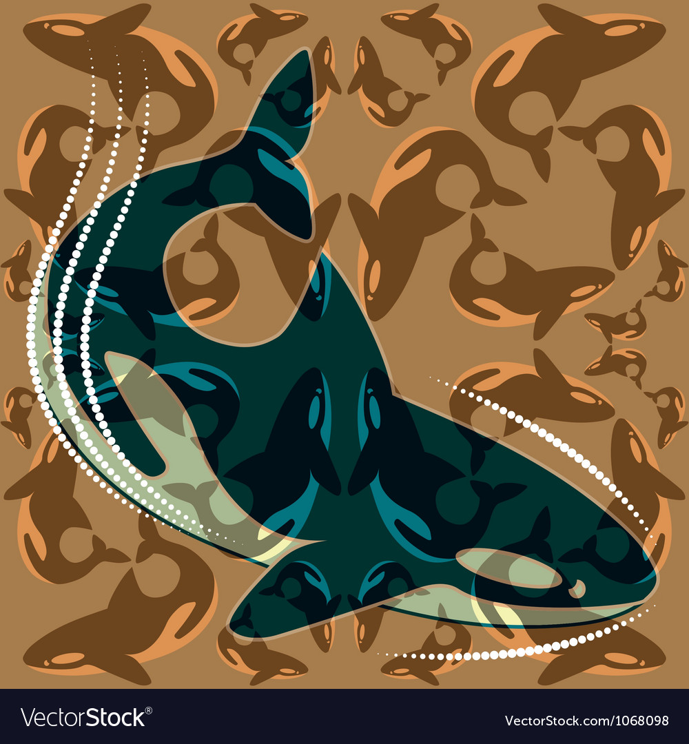 Whales vector image