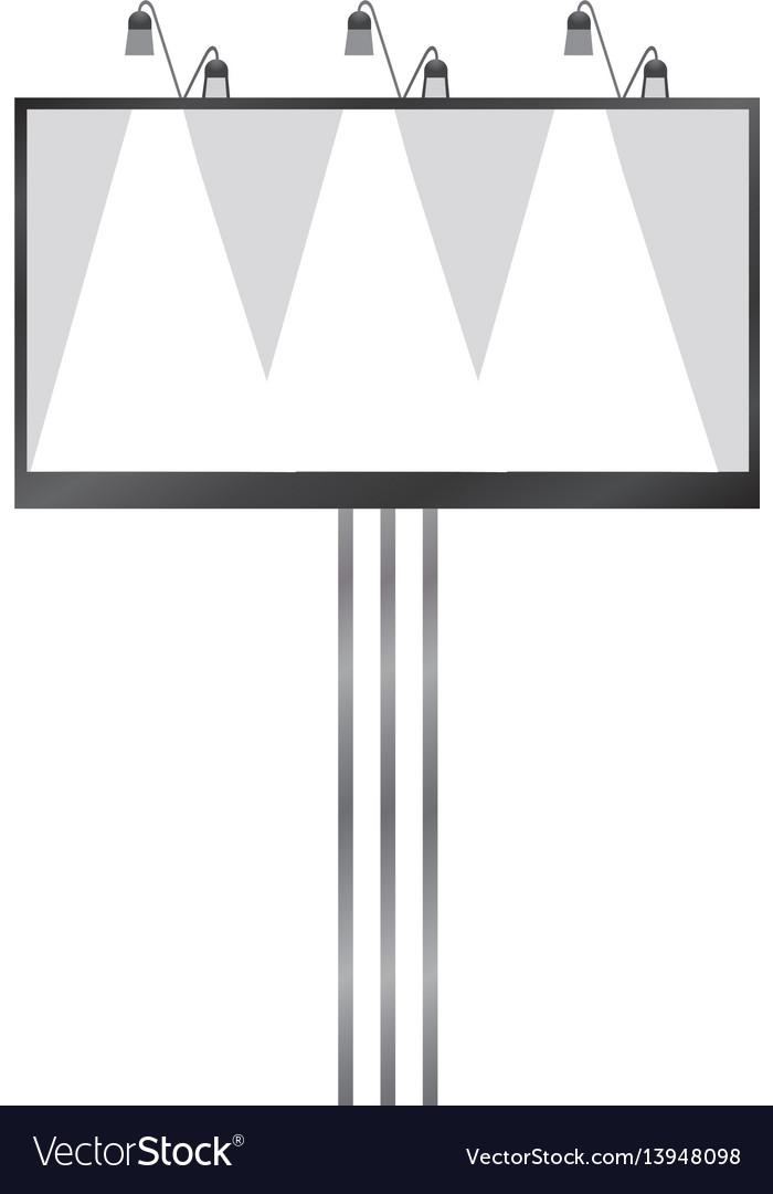 White blank billboard mockup realistic style
