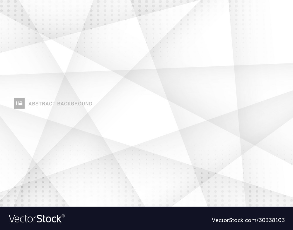 Abstract white and gray polygon background