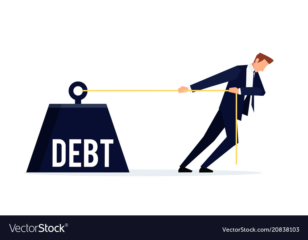 Debtor business concept