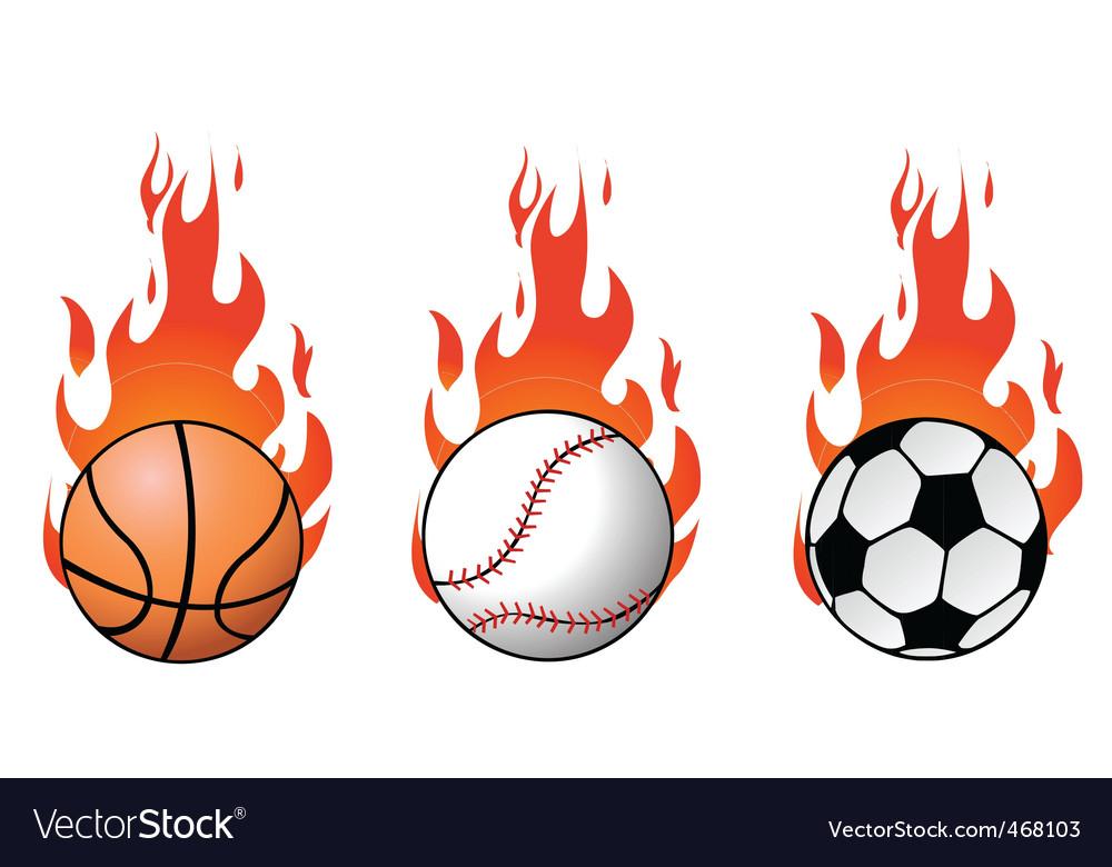 Flaming balls