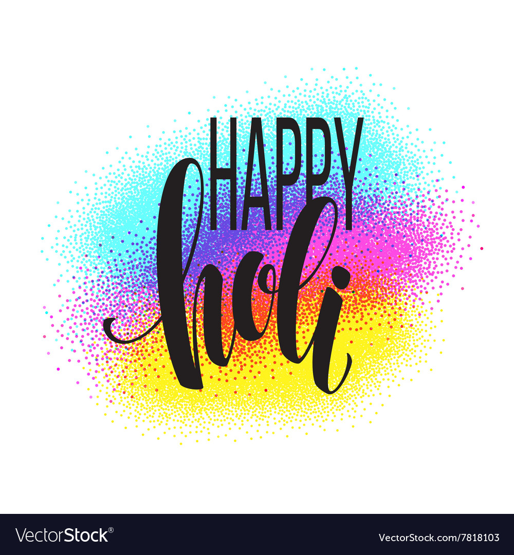 Happy Holi festival of colors greeting background