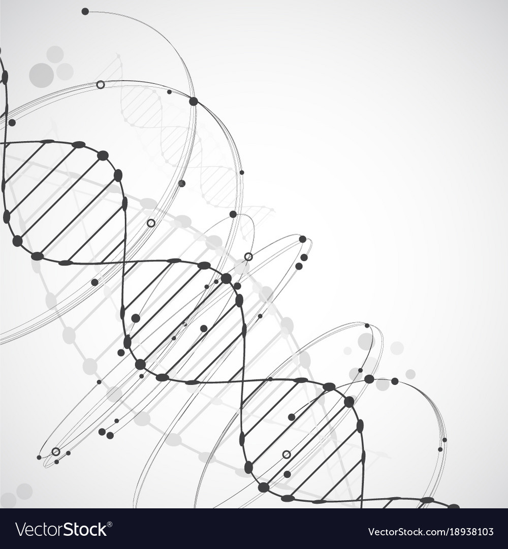 Science template wallpaper or banner with a dna